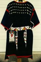 Reproduction of a Sioux trade cloth dress. by AnitaBurnevik