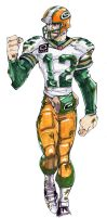 Aaron Rodgers by SketcheeBizniz