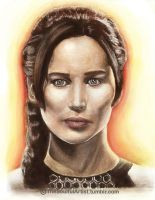 Katniss by thesoulfulartist
