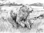 Mother Bear with Cub by Abbadon82