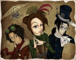 Steampunk Champloo by yoyoninjagirl