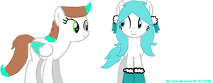 Dustini San and Pon Pons OC KittyCheddar (OCs MLP) by poliejades2