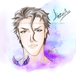 Sosuke Aizen by Stolen-Wings