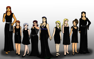 Black Dress Chic by funakounasoul