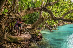 Swing Into the Blue Lagoon by little-spacey