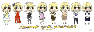 Assorted Chibi Kurapikas by xXdarkXmageXx