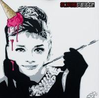 Audrey Ice Cream Hepburn by StephenQuick