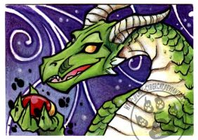 Dragon Jewel ACEO by lady-cybercat