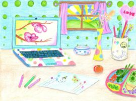 CHEERFUL, HAPPY, SUNSHINY DESKTOP! by HapeeBizeeBeez