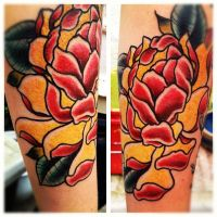 lotus flower japanese sleeve by jerrrroen