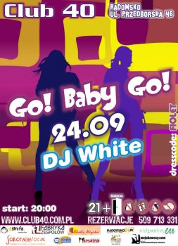 GoBaby flyer for Club 40 by damid