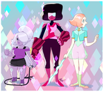 Fan Art - Gems and Costumes by Crumbelievable