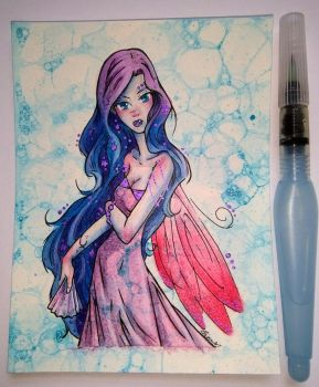Water Colour Snow Fairy by Static-Flicker