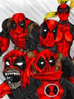 deadpool group colored by ShadowDeBloodmoon