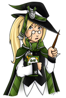 The Slytherin Student by FlykyrSkysong