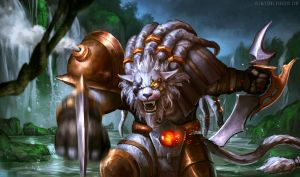 League of Legends: Rengar fanart by blewzen