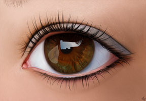 Brown eye. by Alexandoria