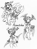 :Dark Harpy and Her Minions: by peanutchan