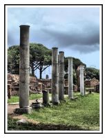 Columns HDR by lehPhotography