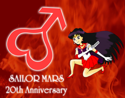 Sailor Mars 20th anniversary by ZeFrenchM