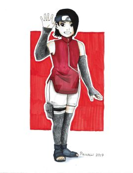 Sarada Uchiha_By_Painalli by PainalliArt