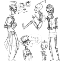 invader zim doodles by Toxic-Corrupt