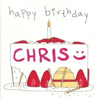 Chris' card - front by jenniology