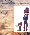 Application For Frenzywonderland ( mad hatter ) by MikaMori