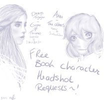 Free Book Character Headshot Requests by RiddleMaker