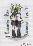 Kagamine twins by Janja99