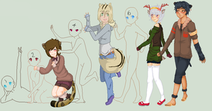: Cutie Gijinkas : by East-and-West