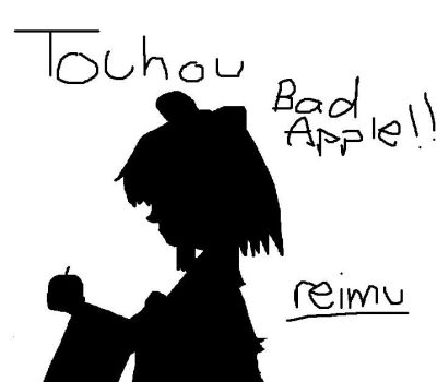 Touhou Bad Apple Reimu by Kennychanx3