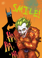 Batman and the Joker - Smile by BIG-D-ARTiZ