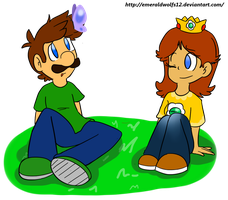 Luigi and Daisy 2 by MariobrosYaoiFan12