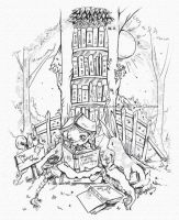 The Library Elf Digital Stamp by StarMasayume