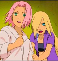 Sakura and Ino : Road To Ninja by Lina7337