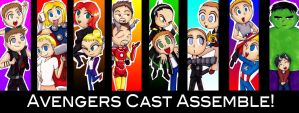 Avengers Cast Assemble by GothicDancer