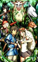 Princess Mononoke by Smudgeandfrank