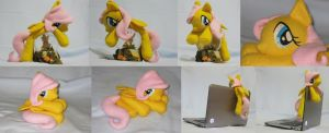 Little Fluttershy Beanie by SailorMiniMuffin