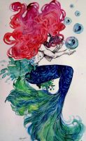 Watercolor sketchbook- Ariel by Doringota