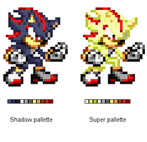 Super Shadow pallette based on Sonic X by alvarobmk123