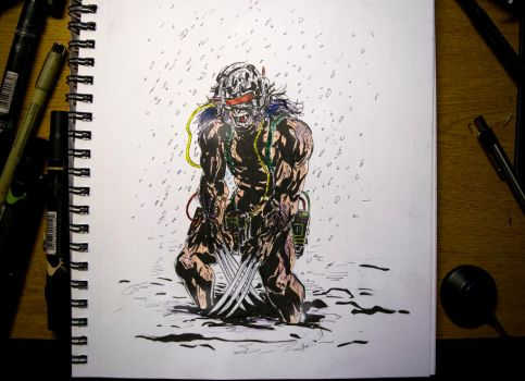 Inktober 2016 Day 13 - Weapon X by Dr-Carrot