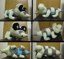 shiny Sandile plush by aSourLemon
