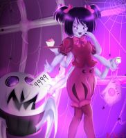 Undertale : Muffet and her pet by YuriHikaru