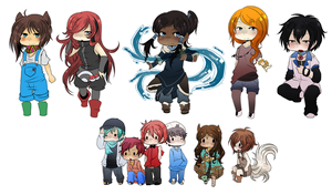 Chibi Commishes Bunched Up by Slately