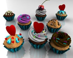 Cupcakes and Love by 00alisa00