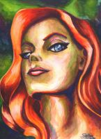 Poison Ivy Watercolor by psdguy