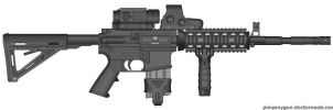 MW3 m4 SOPMOD assult rifle by free2rhime
