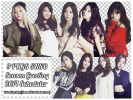 [Png Pack] SNSD Season Greeting 2014 Scheduler by KwonRiBi
