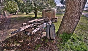 Wreckage and Charm. HDR by DirtyLittleDevil